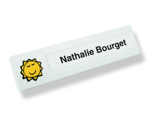 Insigne personnelle – rectangulaire mince